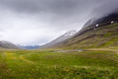 View at mountain landscape in Iceland Royalty Free Stock Photos