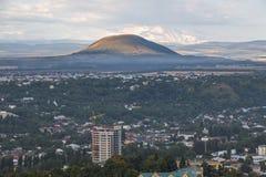 View from the mountain Mashuk to Pyatigorsk (Russia) stock photos