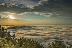 View from the mountain of Mile�ovka Stock Photos