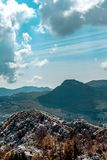 View from the mountain, Montenegro royalty free stock images