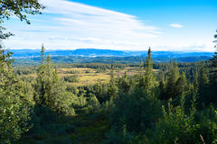 View from a mountain. Near to Trondheim Stock Photo