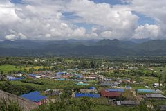 View on the mountain at Pai, Thailand. Stock Photo