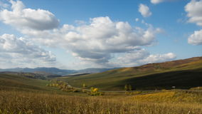 View from the mountain pass. Autumn timelapse. Day light, Altai mountains. stock video footage
