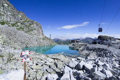 View at the mountain pass Paradiso in Lombardy, Italy Royalty Free Stock Photos