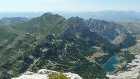 View from mountain peak royalty free stock images