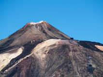 View of a mountain peak Royalty Free Stock Photos