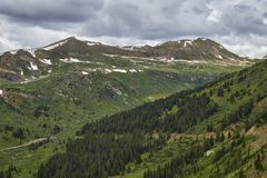 Independence Pass, Colorado stock photo