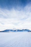 View of mountain peaks and snow in winter time, High Tatras Stock Image