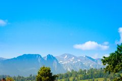 Mountain peaks in spring time in High Tatras royalty free stock photography