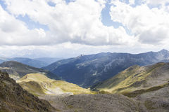 View of mountain peaks in Tyrol, Austria. Stock Photo