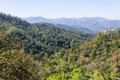 View from Mountain, Pha Daeng National Park in Chiangmai Thailand Royalty Free Stock Photography
