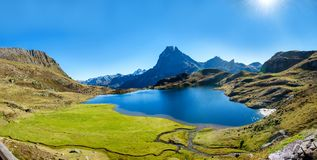 View of the mountain of Pic Du Midi Ossau, France, Pyrenees royalty free stock image