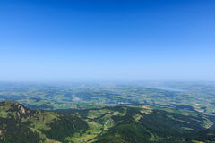 View from the mountain Pilatus at Lucerne, Switzerland Royalty Free Stock Photos
