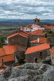 Roofs of the portugese province village Monsanto. View from the mountain on a portugese village Royalty Free Stock Images