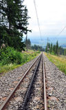 View of the mountain railway, Slovakia, Europe Royalty Free Stock Images