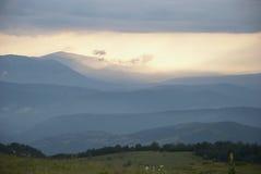 View at mountain range Royalty Free Stock Photo