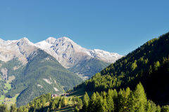 View on a mountain range from the Dolomites, Ahrntal, Trentino-Alto Adige, Italy Stock Photography