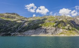 Lake in the high alps - Austria. View of mountain range and lake in the Alps Stock Images