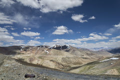 View of mountain range and valley Royalty Free Stock Images