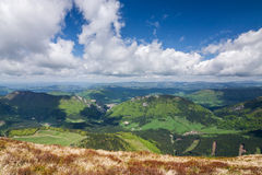 View from the mountain ridge Royalty Free Stock Photography