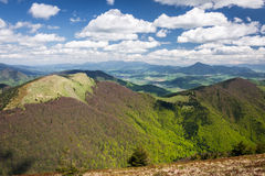 View from the mountain ridge Stock Photography