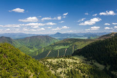 View from the mountain ridge Royalty Free Stock Images