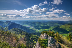 View from the mountain ridge Royalty Free Stock Photos