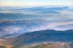 Mountain ridges, aerial view, Iranian mountains Stock Images