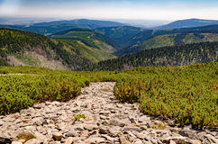 View of the mountain ridges of talus fields Stock Photography