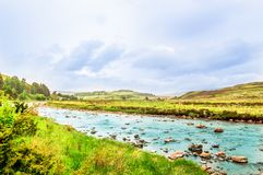 Mountain river in the Highland of Scotland royalty free stock image