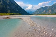 View of mountain river in summer Royalty Free Stock Image