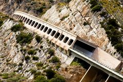 View of mountain road. In southern Italy Stock Photos