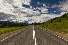 View of a mountain road Royalty Free Stock Photography