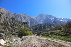 Mountain road in North Ossetia-Alania, Russia Stock Image