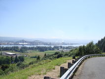 View from the mountain road. Royalty Free Stock Photography