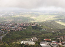 View from the mountain in San Marino. Stock Image