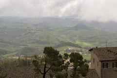 View from the mountain in San Marino Stock Images