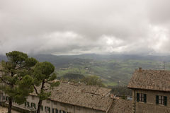 View from the mountain in San Marino Royalty Free Stock Photo