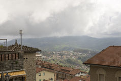 View from the mountain in San Marino. Royalty Free Stock Photos