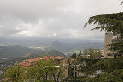 View from the mountain in San Marino Stock Photos