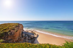 View from a mountain seascape beach. Stock Images