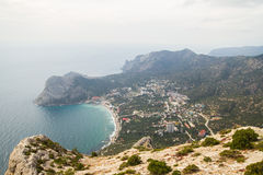 View from the mountain on the settlement the Novıy Svet, the Cr Royalty Free Stock Photos