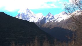 View of the mountain in Siguniang National Park in Sichuan stock video footage