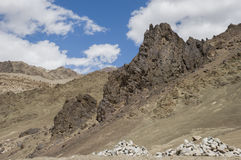 View of mountain and sky to Nubra valley, Leh Stock Image