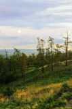 View from Mountain Sugomak, Southern Urals, soft filter Royalty Free Stock Image