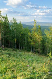 View from Mountain Sugomak, Southern Urals, soft filter Stock Photography