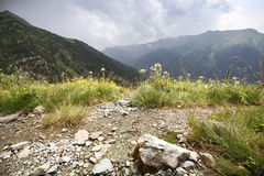 View of the mountain Summer landscape. View of the mountain Summer mountain landscape Stock Images