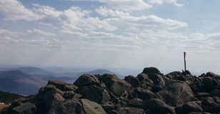View of Mountain Summit. Taken in the Summertime in New Hampshire Royalty Free Stock Photos