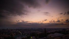 Evening sky time lapse