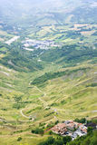 The view from the mountain Titanium, San Marino. Royalty Free Stock Photos